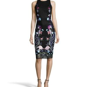 Nicole Miller Floral Embroidered Sheath Dress